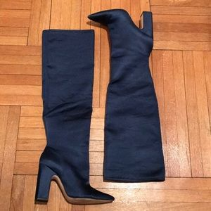 Zara Shoes - Blue Satin High Heel Boot